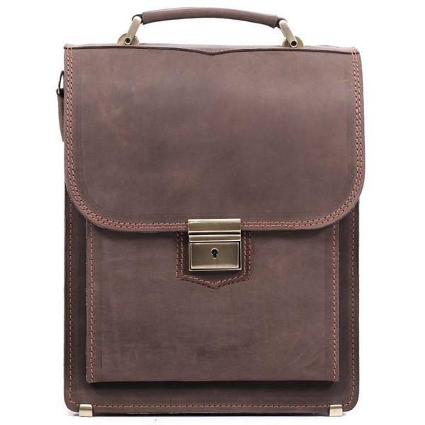 1563a73da437 Кожаный портфель-планшет СПБ-2 коричневый крейзи - Интернет-магазин