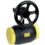 Кран шаровой приварной с редуктором стандартный проход Ру25 Вallomax (вода) T=-20+200°С