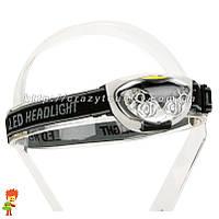 Линзованный светодиодный налобный LED фонарь, фото 1