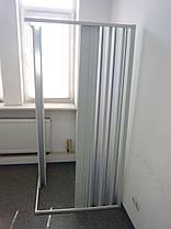Шторка для душа угловая 90х90х185 см прямоугольная, фото 2