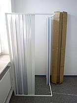 Шторка дверь для душа угловая 100х100х185 см прямоугольная, фото 2