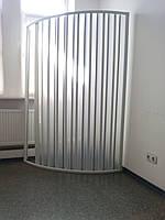 Шторка дверь для душа полукруглая 90х90х185 см