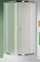 Душевая кабина угловая с поддоном 100x100 см Sanplast KP4/TX5b-100-S sb CR+ BPza профиль хром, стекло матовое