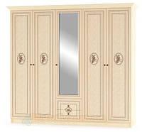 Шкаф 5Д Флорис NEW (Мебель-Сервис)  2274х584х2125мм клен лак + шелкография