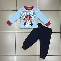 Детский Костюм спортивный (начёс) для мальчиков оптом р.1-2-3 года