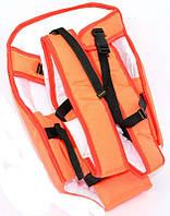 Гр Рюкзак-кенгуру №7 (1) сидя,цвет оранжевый.Предназначен для детей с трехмесячного возраста