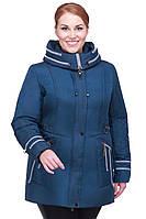Модная куртка большого размера без мех синий