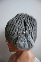 Стильная женская шапка-ушанка 2230/1
