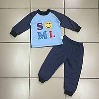 Детский Костюм спортивный тёплый с начёсом для мальчиков оптом р.1-2 года