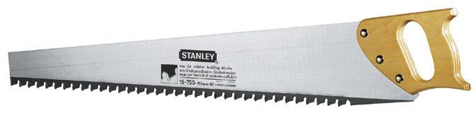 Ножовка по пенобетону 750 мм 1.2TPI с твердосплавными напаянными зубьями  STANLEY 1-15-755