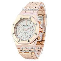 Часы Audemars Piguet Royal Oak Steel (Кварц) gold/white