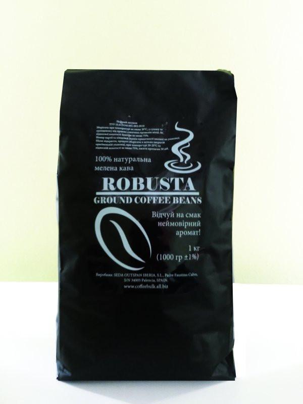 Натуральный молотый кофе Robusta 1 кг
