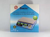 Торговые весы Domotec MS-987 до 50кг 6V точность 5гр