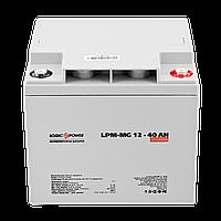 Мультигелевый (AGM) аккумулятор LogicPower 12В 40Ач
