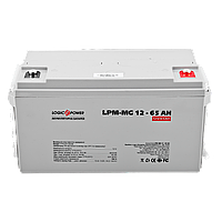 Мультигелевый (AGM) аккумулятор LogicPower 12В 65Ач, фото 1