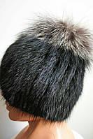 Стильная женская шапка из меха кролика 0370