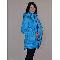 Куртка для беременных, демисезонная (голубая лаковая)