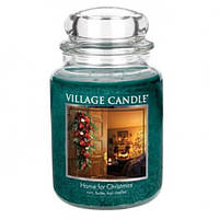 """Ароматическая свеча """"Рожденственский дом"""" Village Candle 740 гр/ 170 часов"""