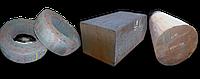 Поковки круглые и прямоугольные: ф300-1000 мм