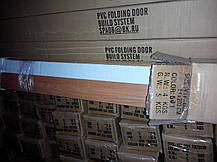 Дверь гармошка полуостекленные 860х2030х12мм сосна 7012 , Днепр, фото 3