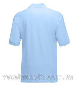 Детская голубая футболка поло (Премиум)