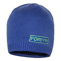 Вязаная шапка для мальчика на флисе Forever