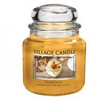 """Ароматическая свеча """"Сладкий мед"""" в стекле Village Candle. 455 гр/ 105 часов"""