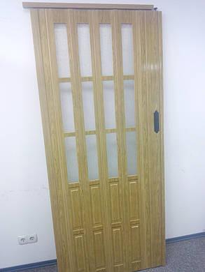 Дверь гармошка полуостекленная межкомнатная дуб золотой 6103, 860х2030х12мм, фото 2