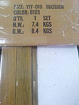 Дверь гармошка полуостекленная межкомнатная дуб золотой 6103, 860х2030х12мм, фото 3
