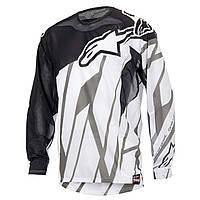 Джерси Alpinestars Techstar Vent черный белый серый L