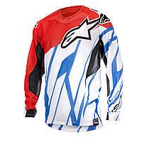 Джерси Alpinestars Techstar Vent красный белый голубой L
