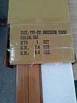 Дверь гармошка остекленная с декором вишня 501 с башенкой 860х2030х12 мм, фото 2