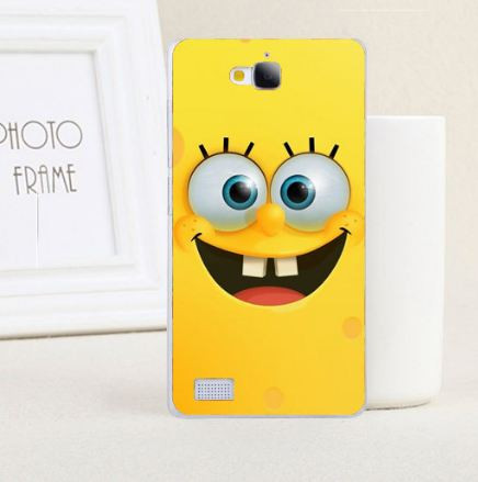 Силиконовый чехол бампер для Huawei Honor 3C с картинкой Губка Боб