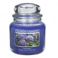 """Ароматическая свеча в стекле Village Candle """"Гортензия"""". 455 гр/ 105 часов"""