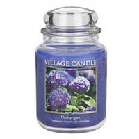 """Ароматическая свеча в стекле Village Candle """"Гортензия"""". 740 гр/ 170 часов"""