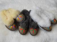 Женские меховые тапочки из овчины