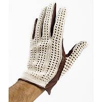 Мотоперчатки Baruffaldi Guia Crochet белый коричневый L