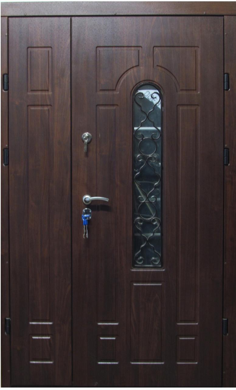 Двері вхідні броньовані з ковкою 1,20х205 безкоштовна доставка