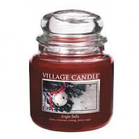 """Ароматическая свеча """"Jingle Bells"""" в стекле Village Candle. 455 гр/ 105 часов"""