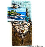 Ключница настенная Мечты о море Декор в морском стиле ручная работа, фото 1