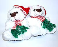 Зимние новогодние тапочки игрушка белые (36/37-38/39-40/41)