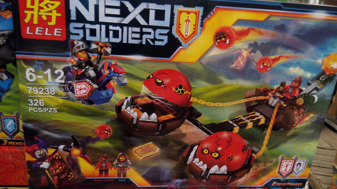 Конструктор Nexo Soldiers 79238 Безумная колесница Укротителя