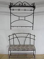 Кованый набор мебели в прихожую  -  015