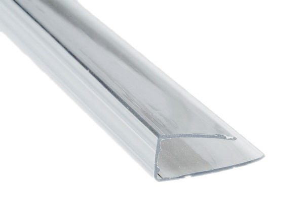 Торцевой профиль для поликарбоната 4мм длинна 2,1 метра прозрачный