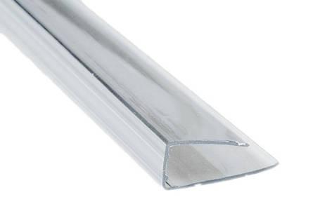 Торцевой профиль для поликарбоната 4мм длинна 2,1 метра прозрачный , фото 2