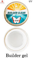 Моделирующий 3-фазный прозрачный гель F.O.X Builder Clear gel UV 15ml