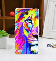 Оригинальный чехол панель накладка для Huawei Honor 3C с картинкой Разноцветный лев