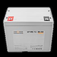 Мультигелевый (AGM) аккумулятор LogicPower 12В 80Ач, фото 1
