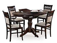 Деревянный обеденный стол Halmar William темный орех