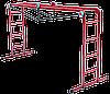 Лестница трансформер 4 ступени/4 секции (4.8х0.9м, 20кг) металлическая (Украина)
